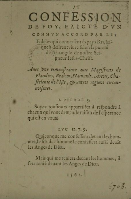 1562 Belgic Confession